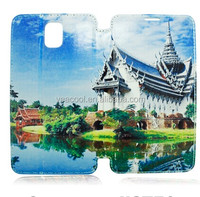 DIY printing Sublimation PU Stand Leather Case for Samsung Galaxy Note 3 N9000