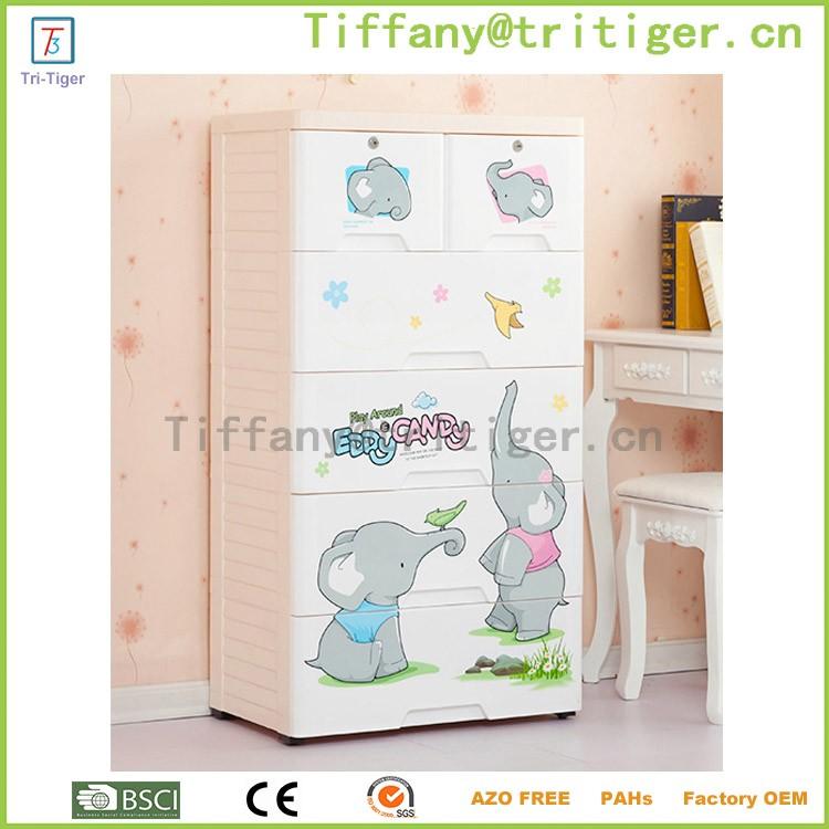 Blue color livingroom outdoor plastic storage cheap wardrobe cabinets for kids (3).jpg