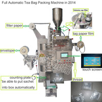 1.5grams automatic tea bag packing machine with thread and tag