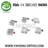 Orthodontic Sapphire Ceramic roth Brackets orthodontic clear brackets dental sapphire ceramic brackets orthodontic braces