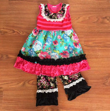 Latest Vintage Children Wholesale Clothing Imported From China Fancy Dress Top And Pant Boutique Clothing