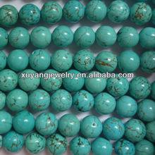 piedras preciosas color turquesa redonda (AB1404)