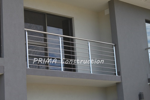 Balcony stainless steel railing design outside buy for Balcony steel grill design