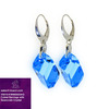 Alibaba Express 925 Fashionable Jewelry Light Blue Color Cubist Drop Earrings with Swarovski Crystal V5010-KW665022AQ