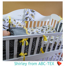 19% Off MOQ 30pcs 2015 New Baby Crib Quilt Made Of Minky Fabric For Baby SBQ15101201