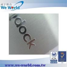 Aluminum anodizing laser engraving sandblast brushed metal surface treatment