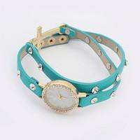 Free shipping crystal punk cross pocket watch chain