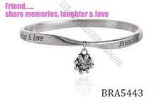 Best selling aliexpress uk equilibrium bangle zinc alloy antique silver twist custom engraved letters positive energy bracelets