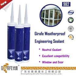 Neutral sealant for curtain wall