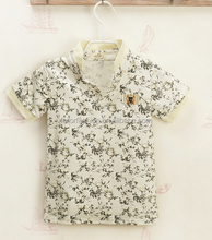 Wholesale New 2015 Children's Polo T-shirt Boys Short Sleeves T shirts Children's Clothing Kids Tees