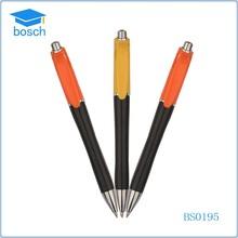 Custom pen match shape silver decorative ball pen with rubber grip