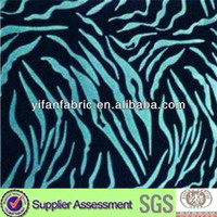 Popular latest design flocked style polyester flocked sofa fabrics