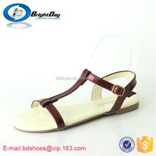 Cut out strap gladiator flat dress sandals high quality ladies sandals pu sole