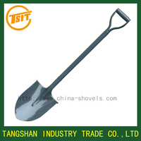 spades with metal handle ,steel round shovel