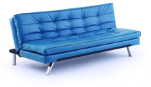 Cheap Price Modern Living Room Blue Leahter Sofa, Folding Sofa Bed