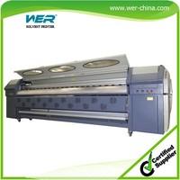 new design WER 3.2m SPT510 heads large format cloth banner printing machine
