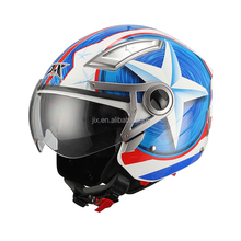 New DOT Openface high quality motorcycle helmet (JIX OP01)with double visor clear visior