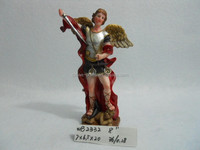 Polyresin religious handmade decoration of Archangel Michael statue