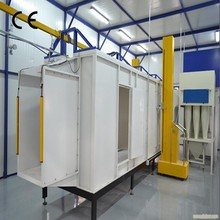 Electrostatic spraying booth/room plant for powder coating with thick stainless steel panel
