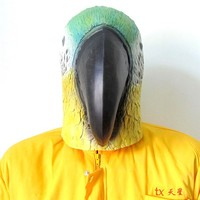 Alibaba Express Chrismas Realistic Cute Latex Parrot Mask for Wholesale Toys Supplier