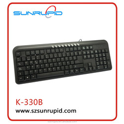 Popular Product Keyboard with 9 Multimedia Hot Keys Wired Keyboard for Latop and Computer