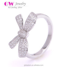Sample Engagement Personalized Rings Girl Ring With Bownknot
