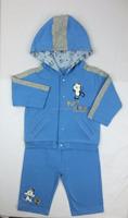 Baby garment 100% cotton fabric 2pcs baby clothes set