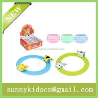 Promotional wind up plane capsule toy