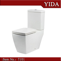 Square cheap toilet, golden dragon sanitary ware, Africa market TWO PIECE TOILET