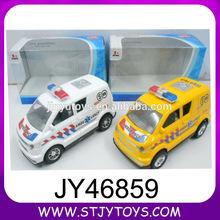 mini de plástico por fricción policía de juguete del coche de ambulancia para la venta