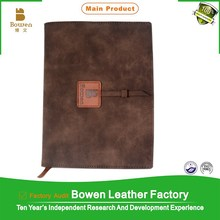 Hot sale in Europe leather vintage notebook / hard cover vintage note book/ vintage leather cover