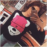 2015 new coming cute print custom tshirts long sleeve t shirts manufacturers china ZC1946