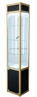 Alibaba china supplier easy to install and move mdf material fireproof display case in jewelry store