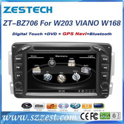 ZESTECH car dvd player for benz w203 In dash 2din with HD display/BT/GPS/Ipod/USB/SD/Radio/TV /Rear camera