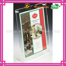 clear 8 x 10 Acrylic Sign Holder with Standoff Hardware Slant Back acrylic picture frames 8x10 manufacturer