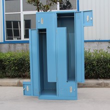 Colorful Z Shape Locker/Steel Clothes Locker for Gym