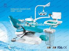 Fujia confidente silla dental lista de precios con bandeja de instrumentos con freno de aire y buit-en el desinfectante tanque
