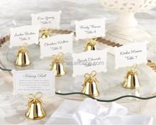 Wedding Gold Kissing Bells Place Card/Photo Holder