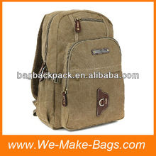 Simple heavy-duty canvas back packs sports bag for men