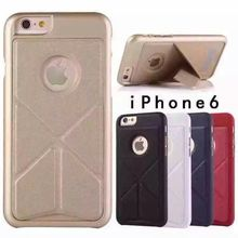 Smartphone accessories in China factory PU leather kistand +PC phone case for iphone 6s