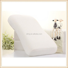 New products 2015 of living room 100 %polyester fabric cover pillow with memory foam, back support pillow/neck pillow