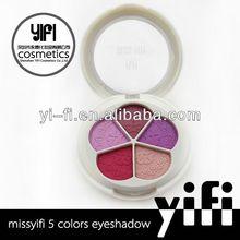 Distributor!5colors multifunctional makeup eyeshadow palette trading show in HK