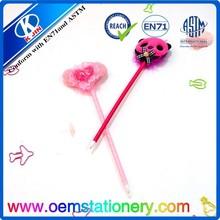 Lovely heart shape ball pen/loving heart gift ball pen/novelty promotion cartoon heart ball pen