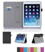 Filp Cover For Apple PU Leather Tablet Case For Ipad Air 2 With Hand Strap
