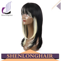 Stable Quality Factory Price Heat Resistant synthetic Hair Wavy grey lace front wig for middle age women