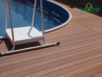 New tech composite decking WPC flooring nice fit for swimming pool