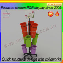 Hot sale POP flowers display rack for shopping store