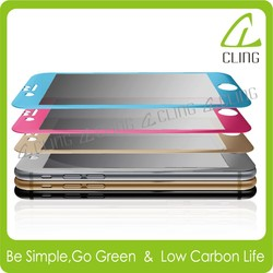 Full Screen 100% Coverage Tempered Glass Screen Protector For iPhone 6 and 6 plus with retail package SILVER color