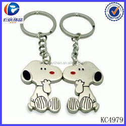 Promotional Items Custom Metal Dog Couple Key Chain