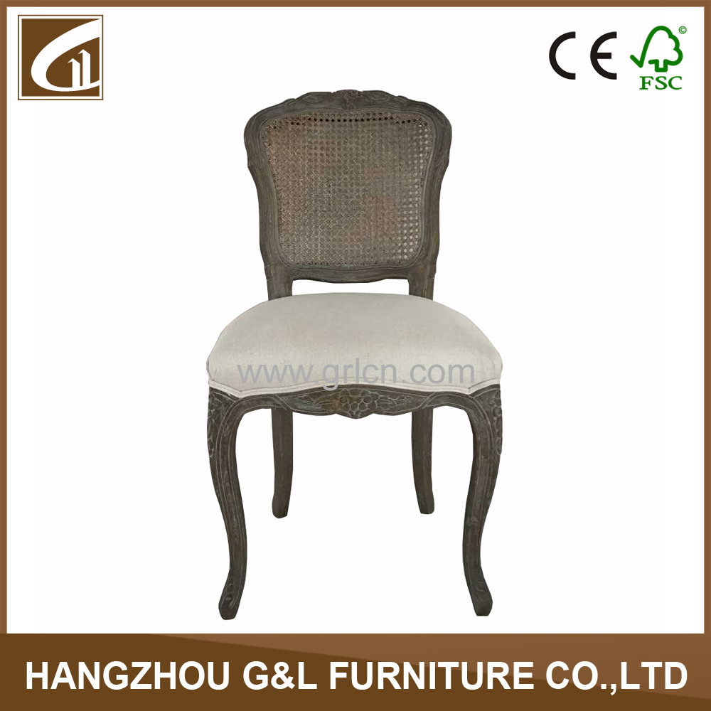 French Wooden Rattan Back Louis Chair French Rattan Dining